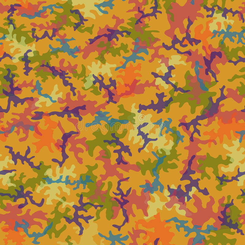 Seamless Trippy Camo Pattern vector illustration