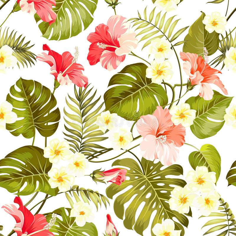 Seamless tropical flower. royalty free illustration