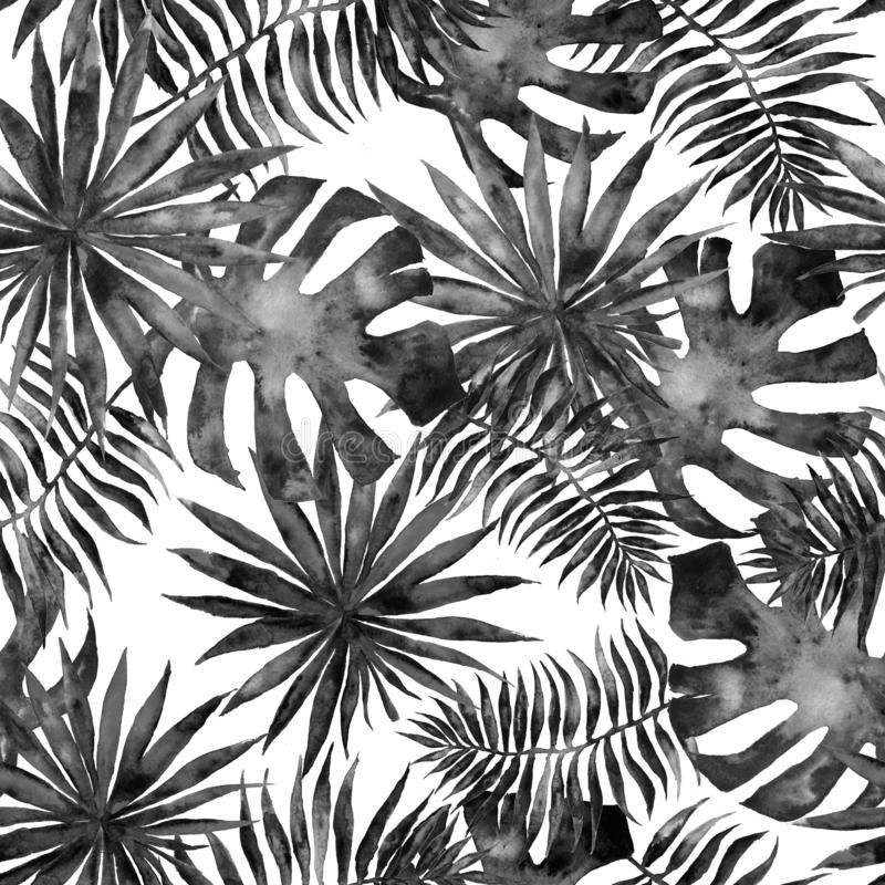 Seamless tropical pattern royalty free stock photo