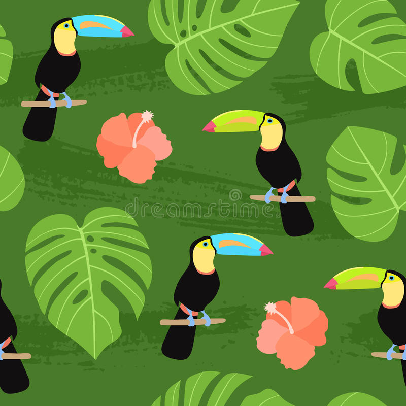 Seamless tropical pattern. stock illustration