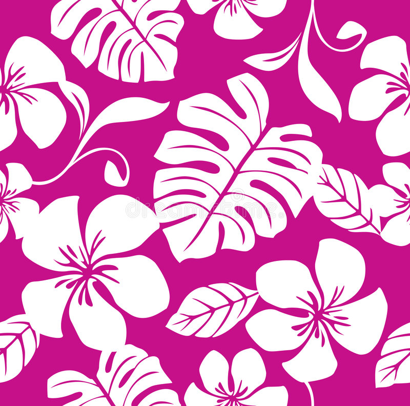 seamless tropiskt för bikinimodellpink royaltyfri illustrationer
