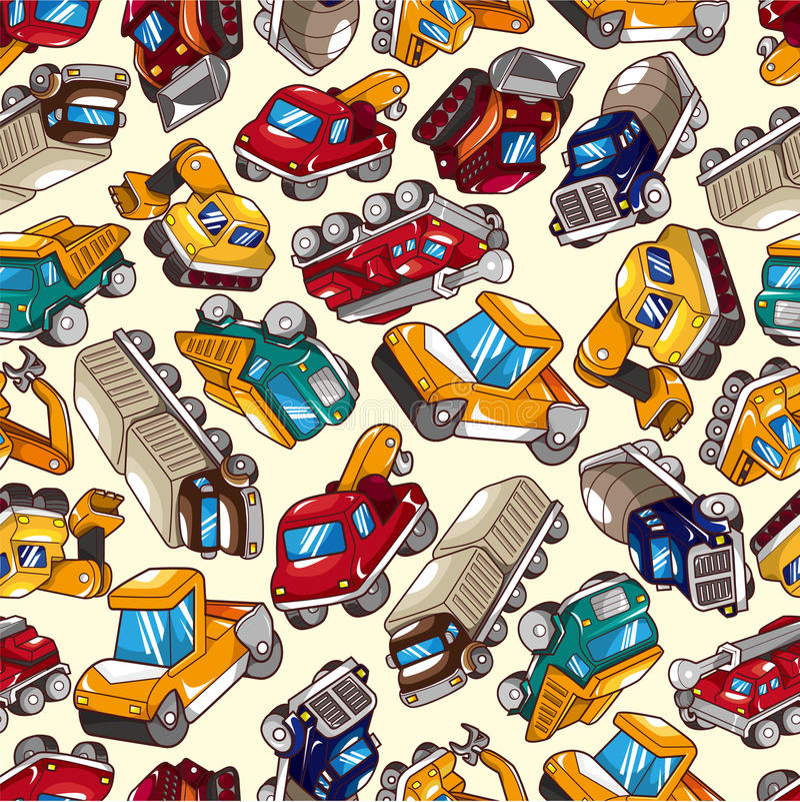 Seamless truck pattern vector illustration