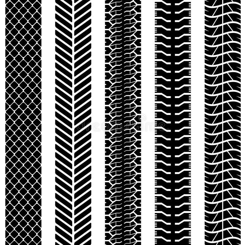 Seamless truck tyre tracks royalty free illustration