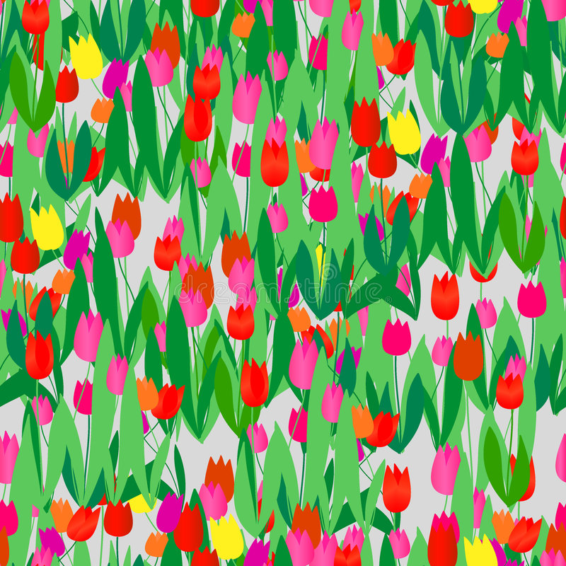 Download Seamless tulip pattern stock vector. Image of element - 5202715