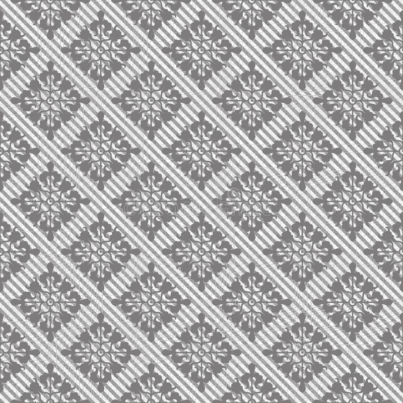 Seamless tweed pattern in grey. Abstract seamless tweed pattern in grey stock illustration