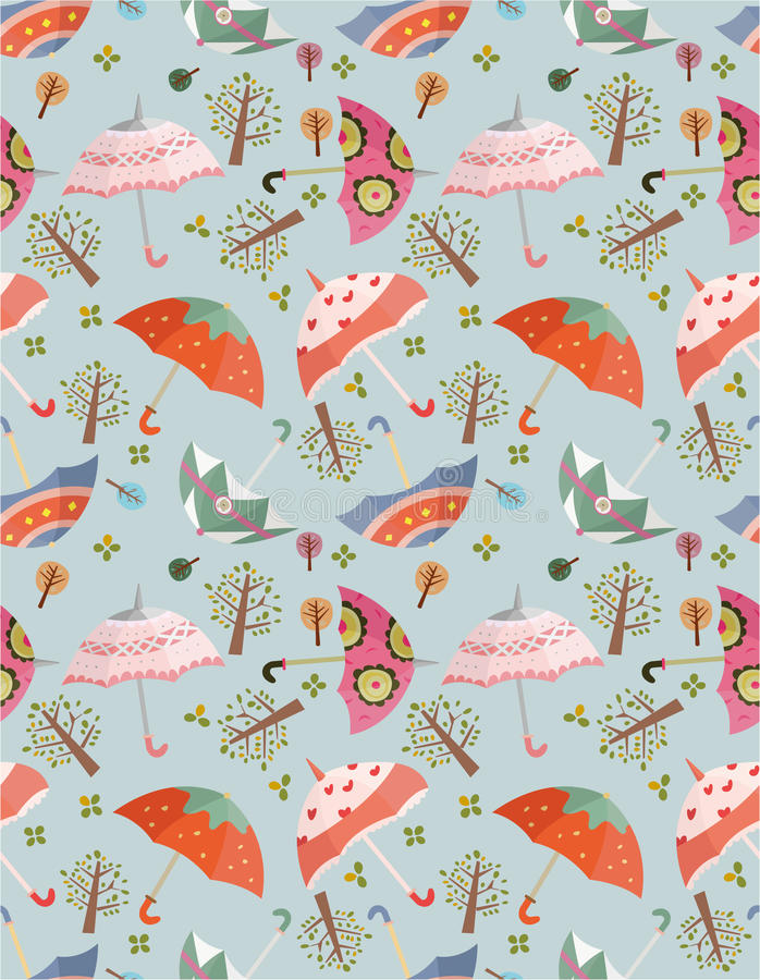 Download Seamless umbrellas pattern stock vector. Image of september - 17598397