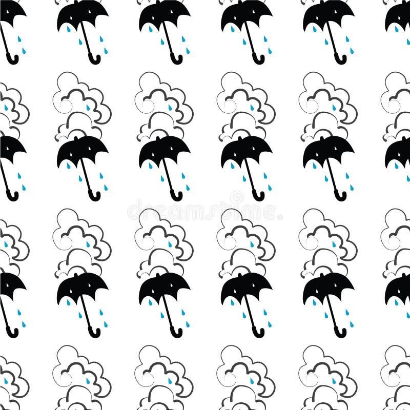 Download Seamless Unbrella Pattern Royalty Free Stock Photos - Image: 12329568