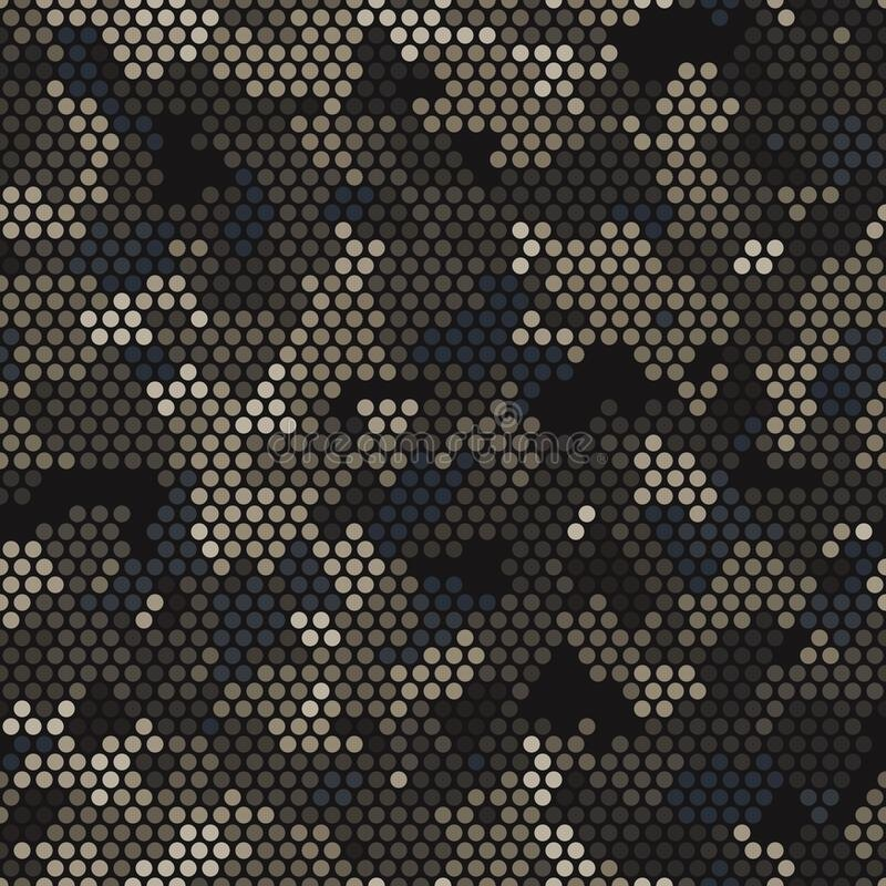 Free Seamless Urban Camouflage Pattern. The Pixel Pattern Background Royalty Free Stock Images - 188491309
