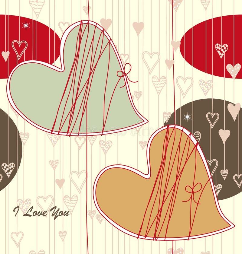 Seamless Valentine Pattern royalty free illustration