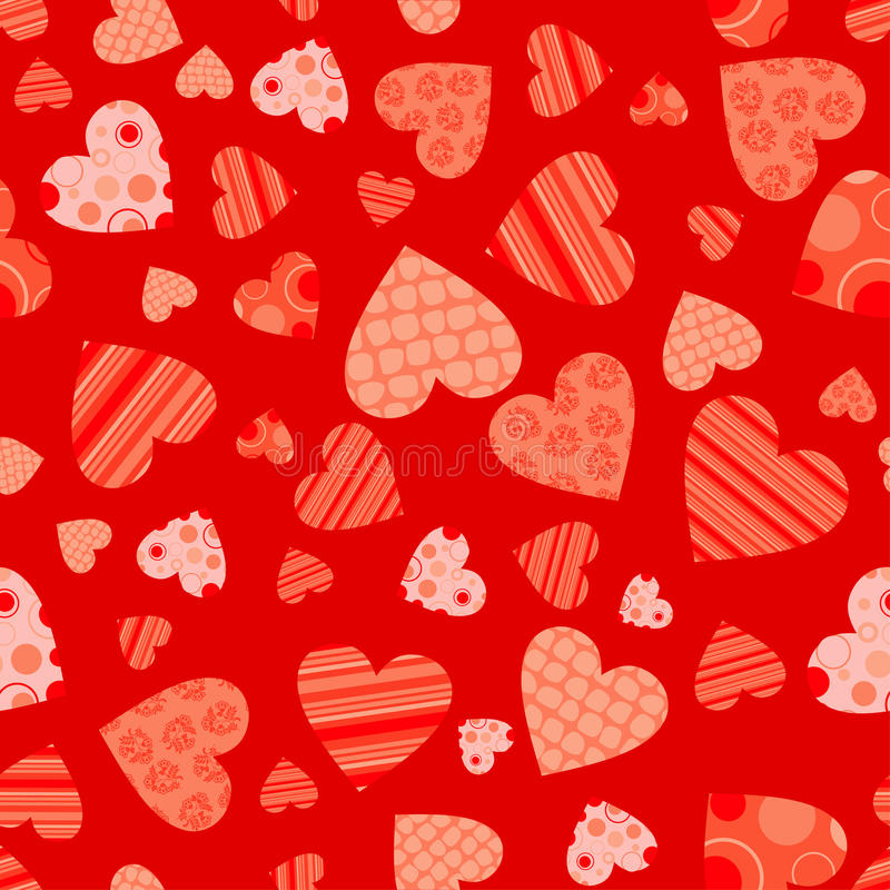 Download Seamless valentine pattern stock vector. Illustration of heart - 22919166