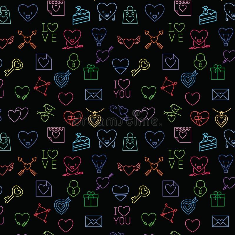Seamless valentine pattern stock illustration