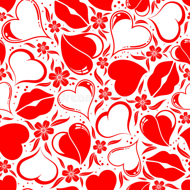 seamless valentiner för dagmodell stock illustrationer