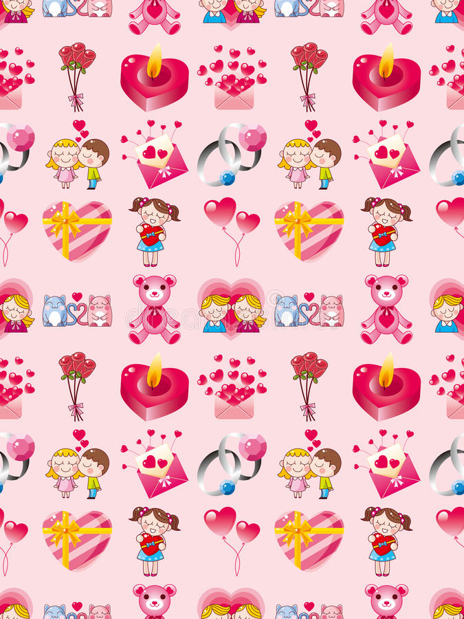 Download Seamless Valentines Day Pattern Stock Image - Image: 28259431