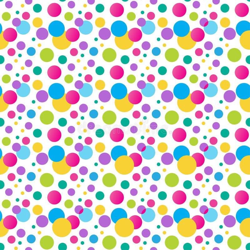 Free Seamless Variegated Polka Dot Pattern. Royalty Free Stock Images - 49576089