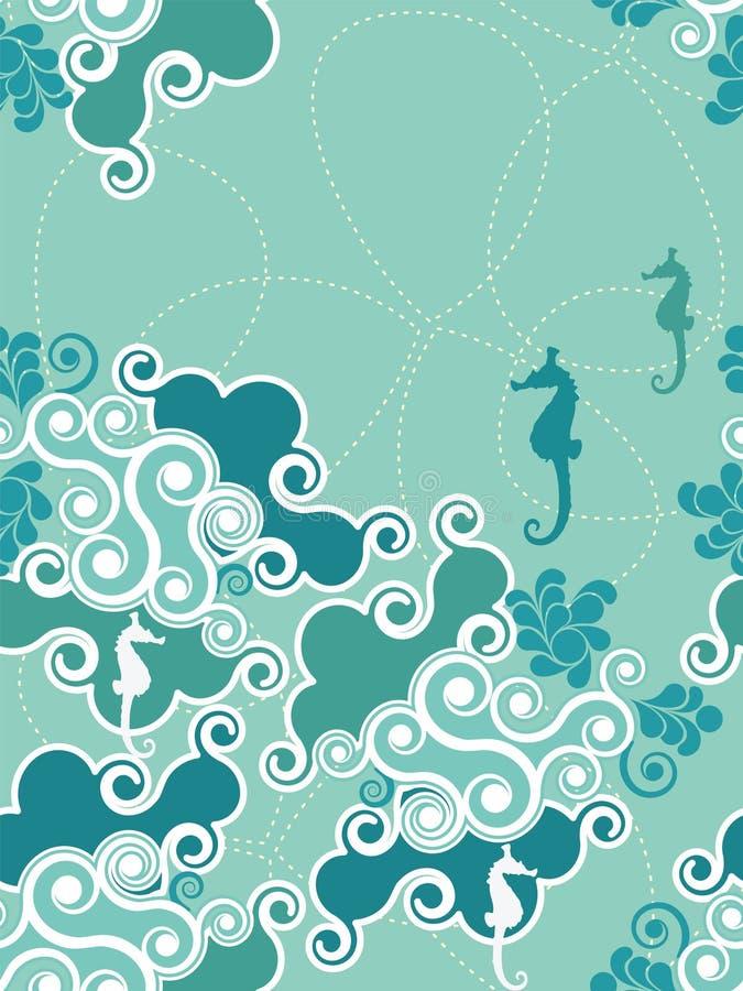 seamless vatten för abstrakt bakgrund royaltyfri illustrationer
