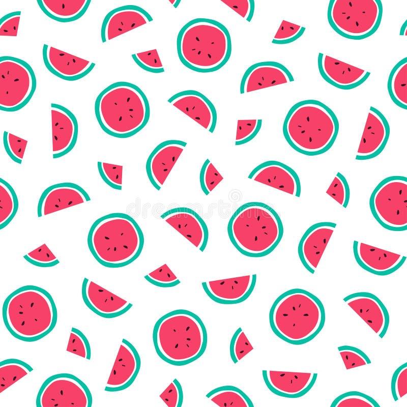 seamless vattenmelon för modell stock illustrationer
