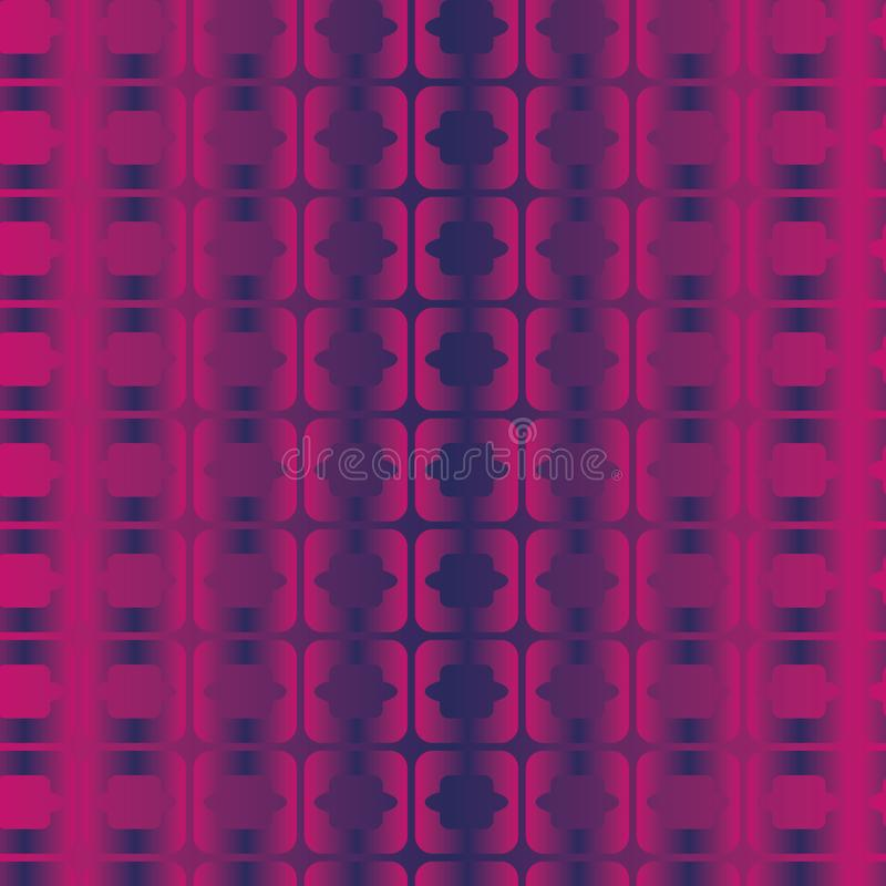 Seamless vector abstract geometric pattern with pink violet and navy blue colored gradient vector illustration