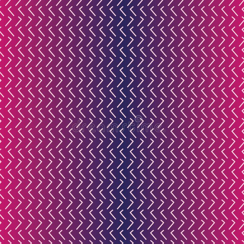 Seamless vector abstract pattern with violet gradient and light pink lines vector illustration