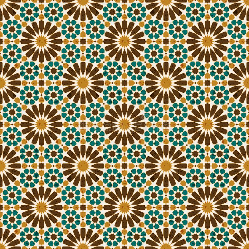 Seamless vector arabic geometric traditional pattern. design for tiles, covers, packaging royalty free illustration