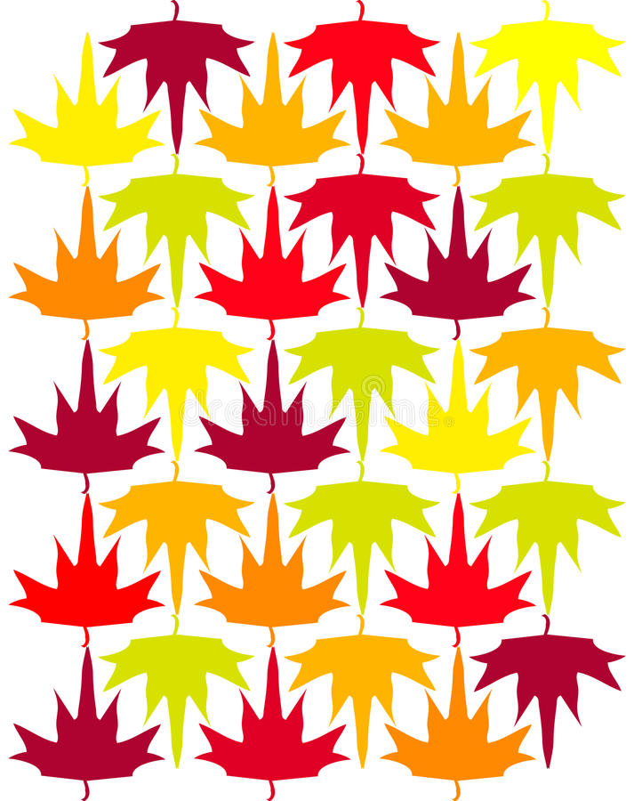 Download Seamless Vector Autumn Maple Background Stock Illustration - Illustration: 12554352