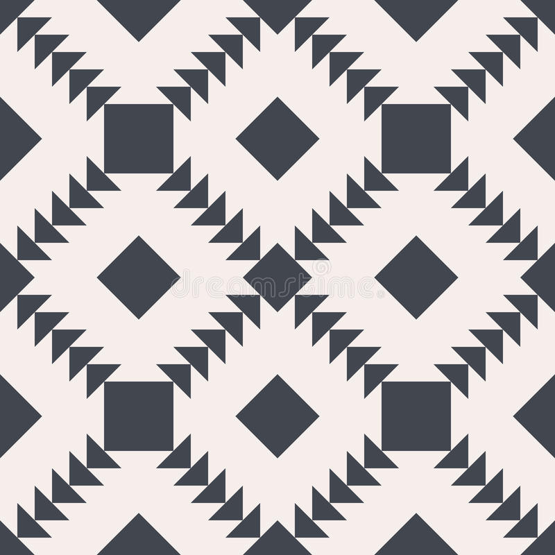 Seamless vector background. Black and white square and triangle texture. royalty free illustration