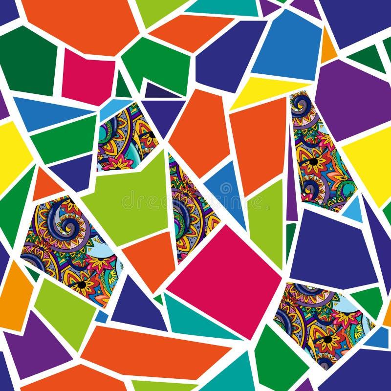 Seamless vector background.Bright mosaic. stock photos
