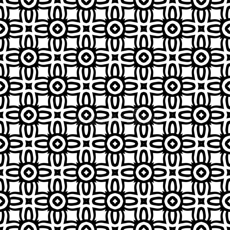 Black n white seamless small pattern background illustration royalty free stock photography