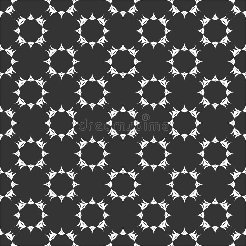 Small motif repeated circles pattern vector illustration in black n whit stock images