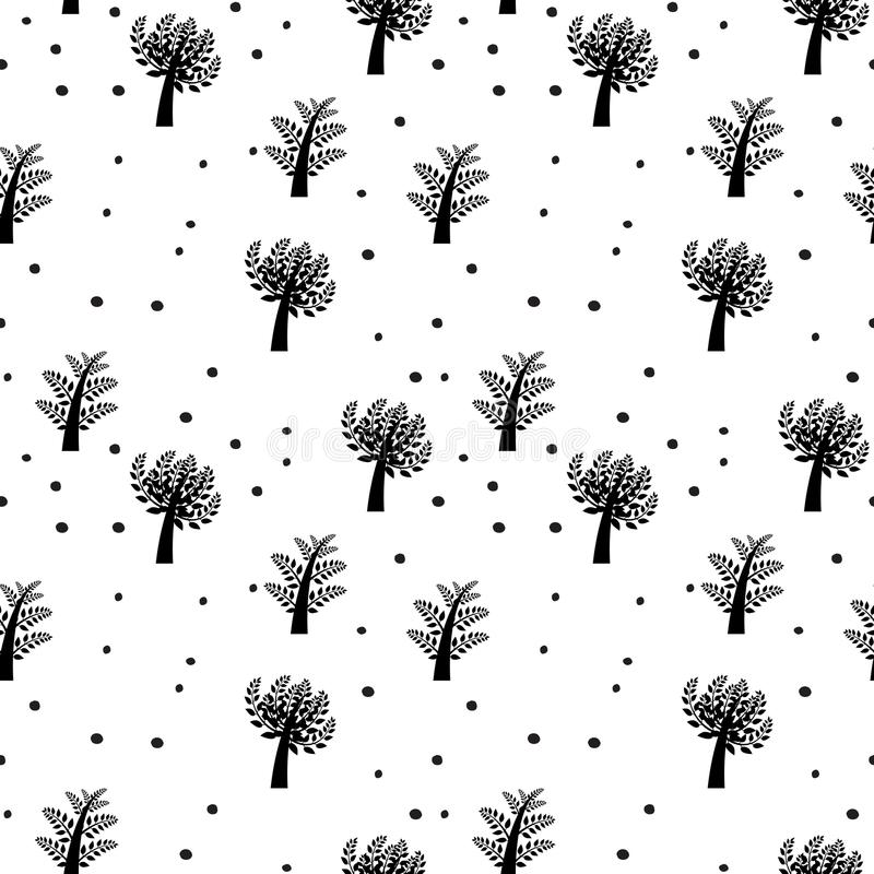 Seamless vector background with trees vector illustration