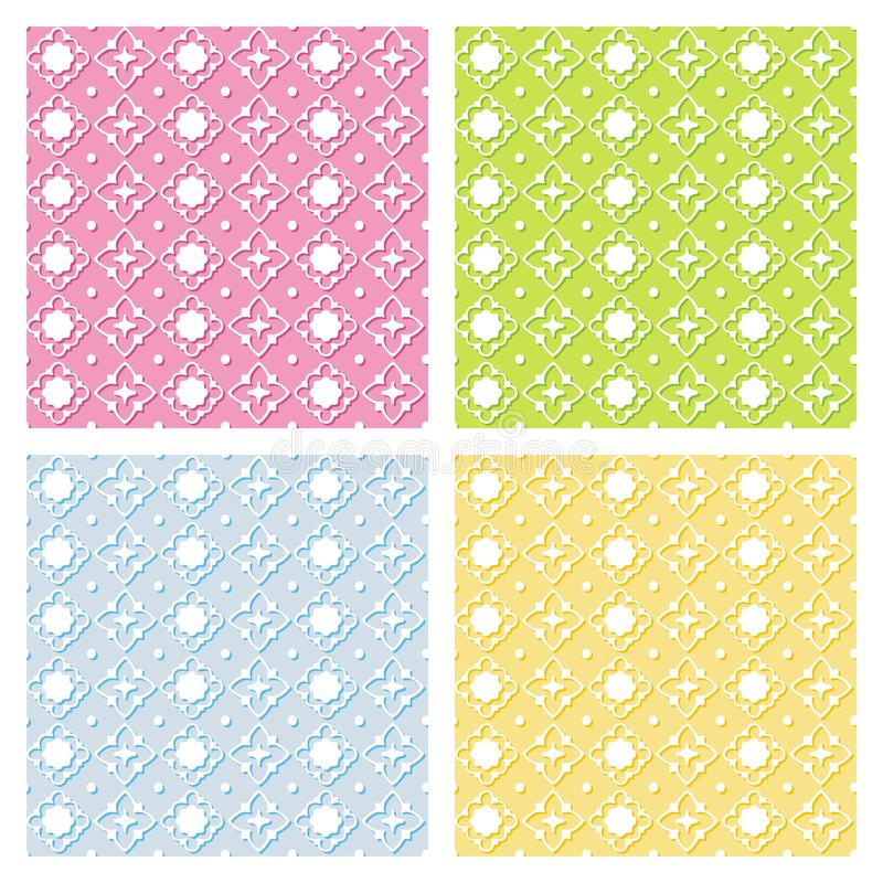 Seamless vector backgrounds set. Creativity curve seamless vector backgrounds set. For easy making seamless pattern just drag all group into swatches bar, and vector illustration