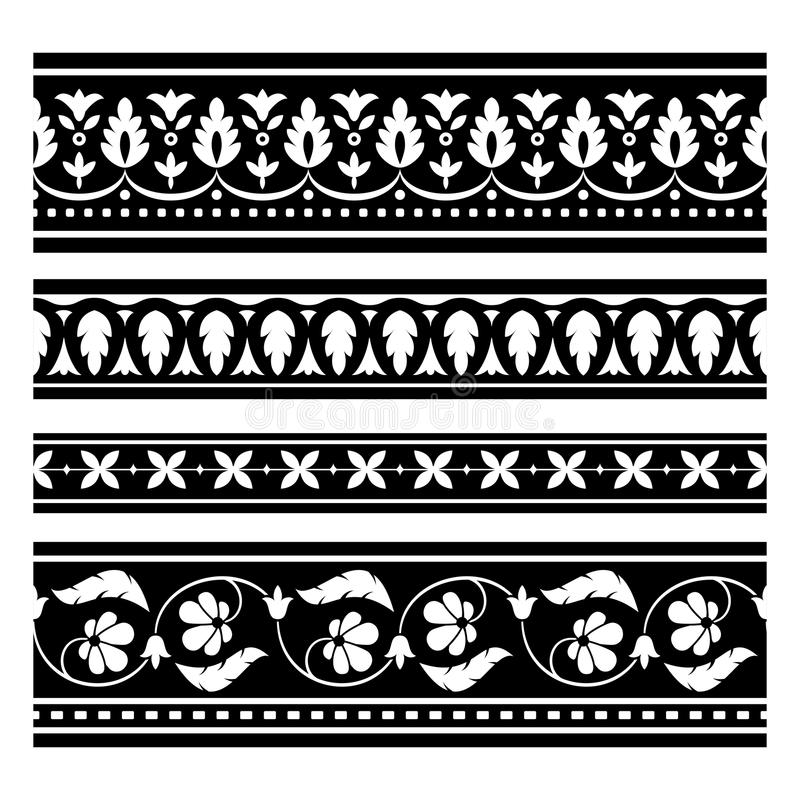 Download Seamless  vector borders stock vector. Illustration of ornament - 26104500