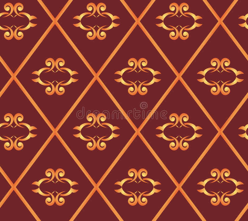 Seamless Vector Brown Texture With Rhombuses Royalty Free Stock Photos