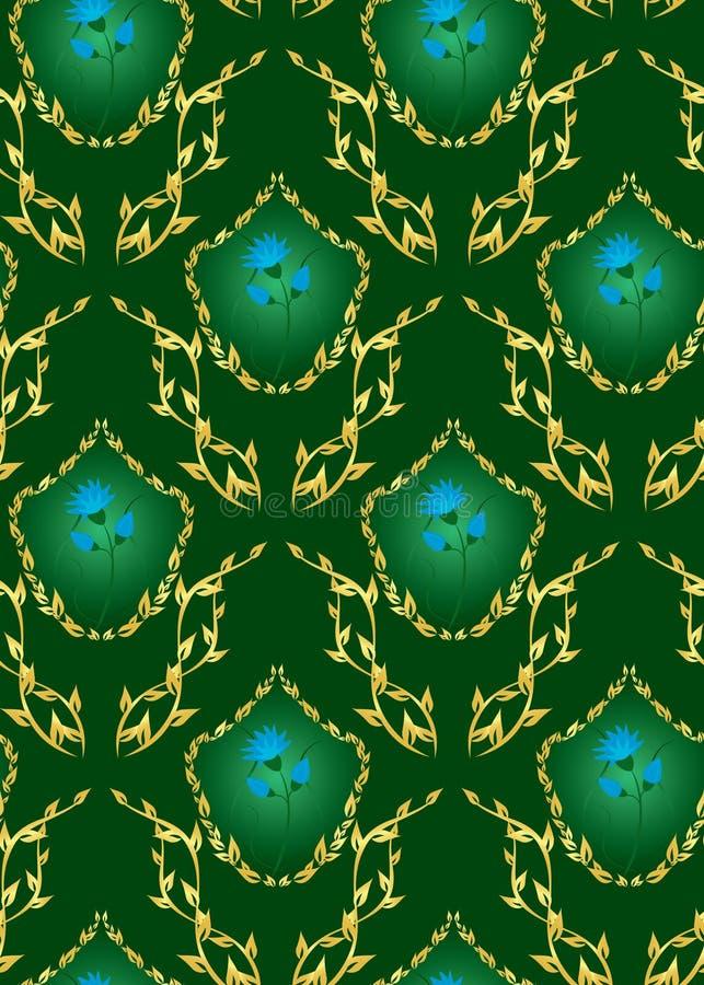 Download Seamless Vector Dark Green Floral Texture Stock Vector - Illustration of ornament, gradient: 16029088