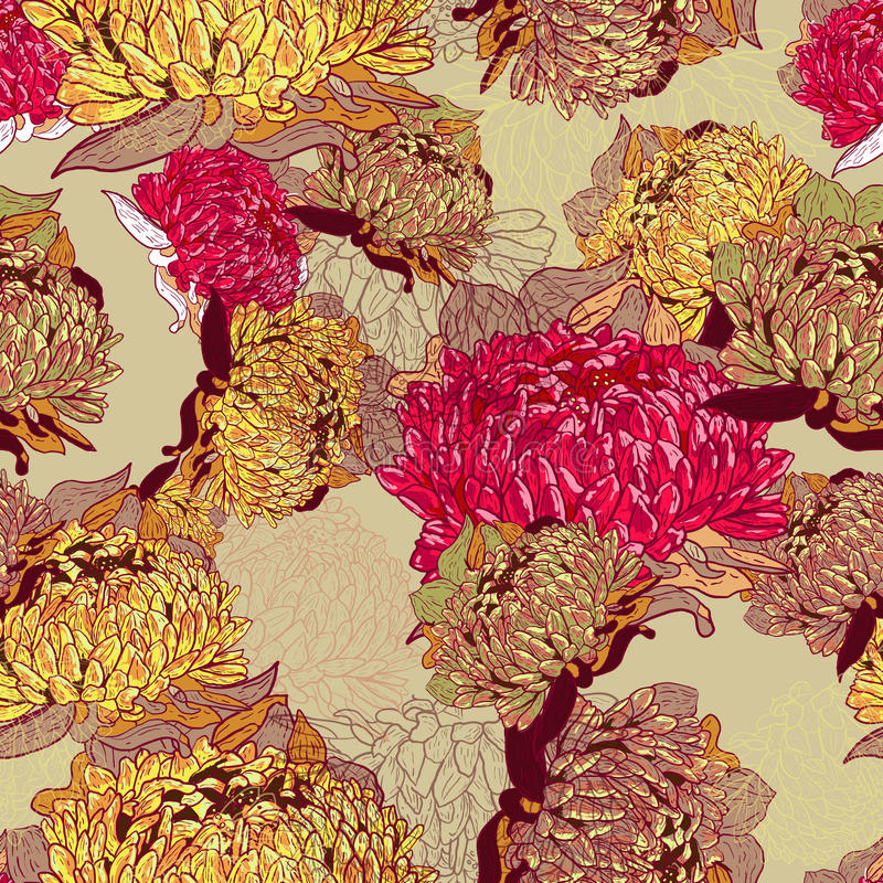 Download Seamless Vector Floral Pattern Royalty Free Stock Photography - Image: 22370177