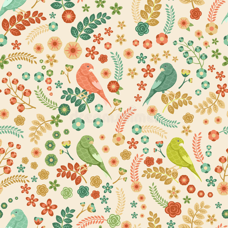 Free Seamless Vector Floral Pattern Royalty Free Stock Photography - 49247487