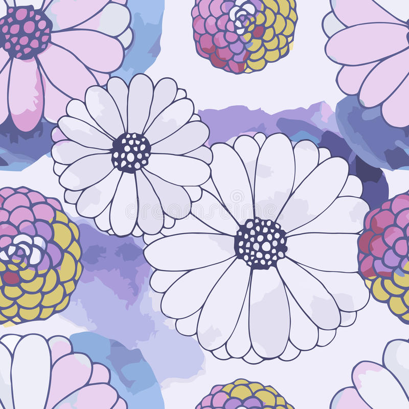 Seamless vector floral texture vector illustration