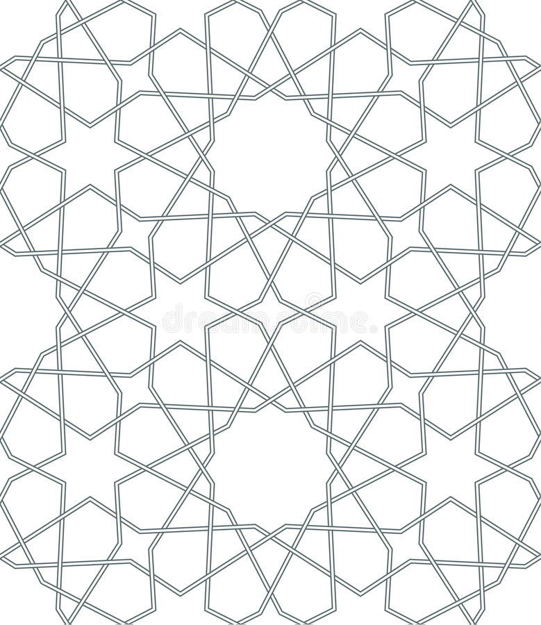 Seamless vector geometric background in arabian style. Islamic pattern. Seamless vector geometric background in arabian style stock illustration