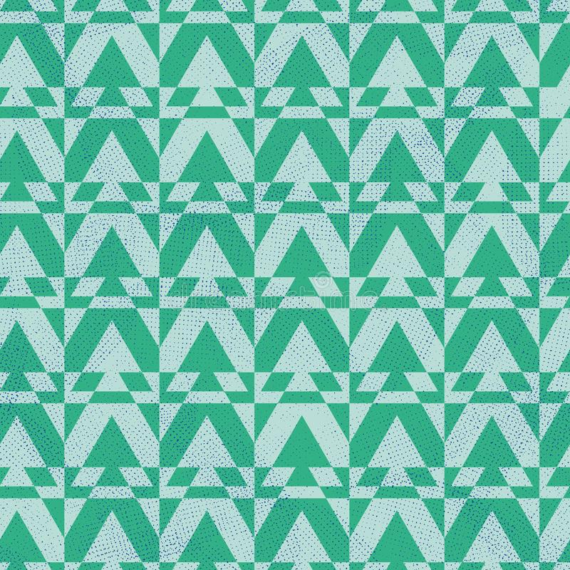 Seamless vector geometric pattern with triangular spruce trees. A seamless vector geometric pattern with triangular spruce trees. Surface print design stock illustration