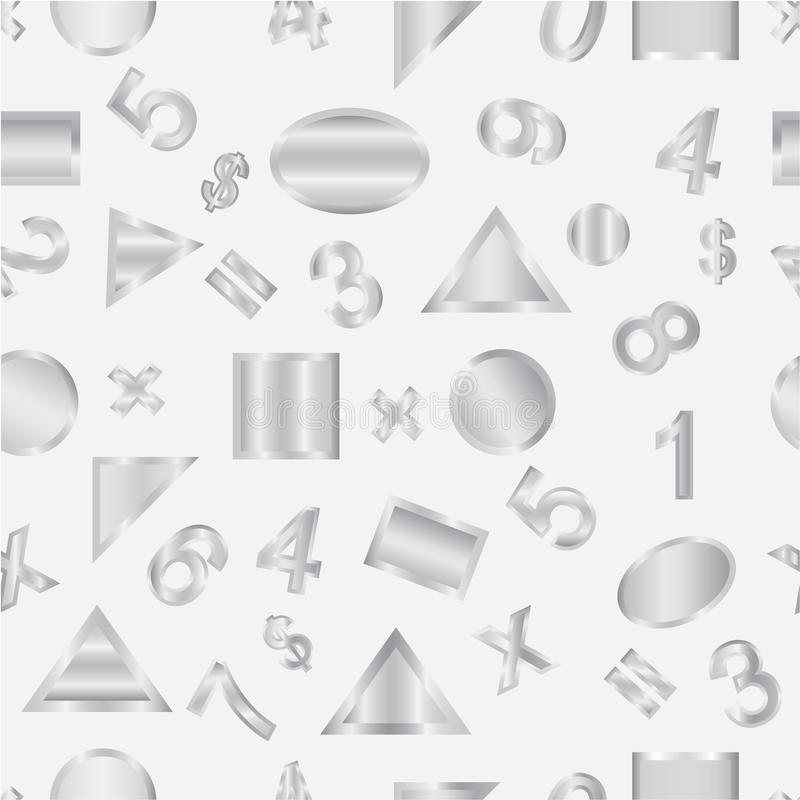 Seamless vector of geometric shapes. And figures stock illustration