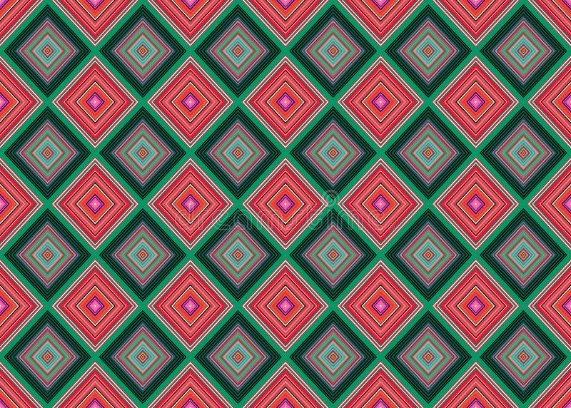 Seamless vector geometrical pattern with rhombus, squares. endless background with drawn textured geometric figures. vector illustration