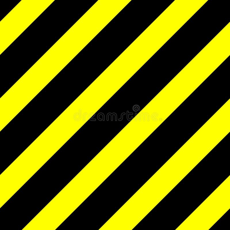 Seamless vector graphic of black diagonal lines on a yellow background. This signifies danger or a hazard stock photos