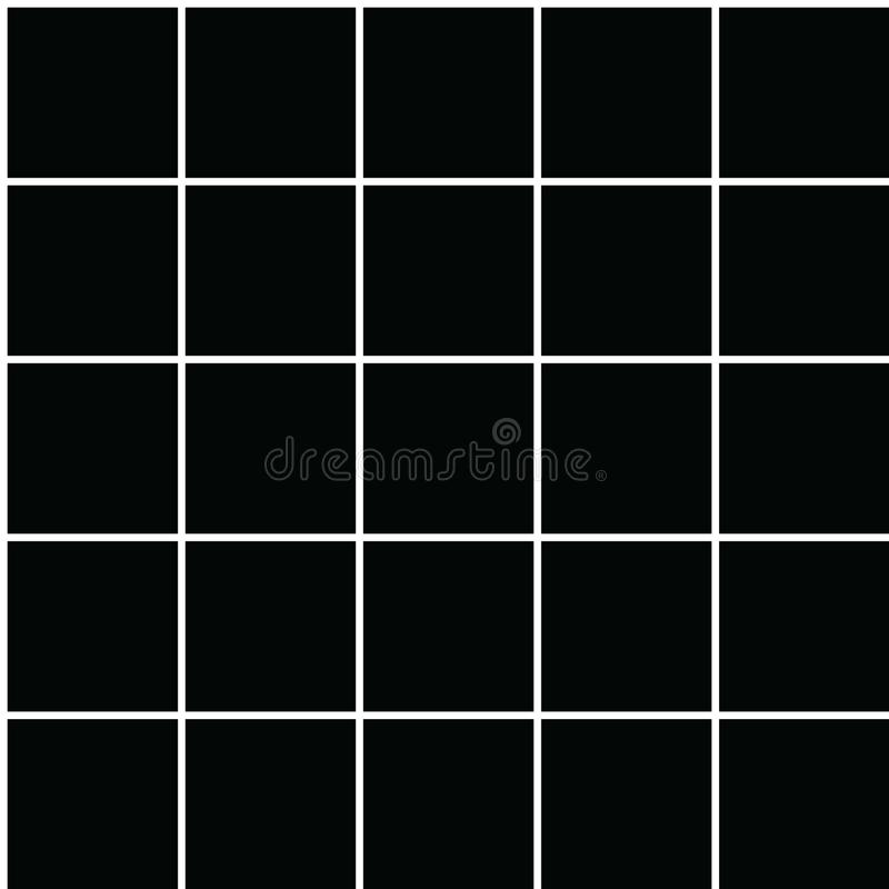 Seamless vector grid pattern with horizontal and vertical parallel lines in white with a black background. Texture background. vector illustration
