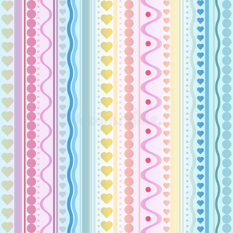 Seamless vector hearts and dots texture stock photography