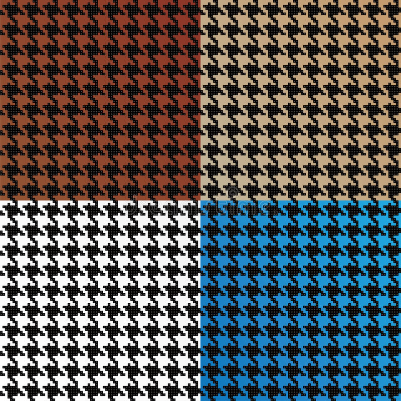 Seamless Vector Houndstooth Pattern royalty free illustration