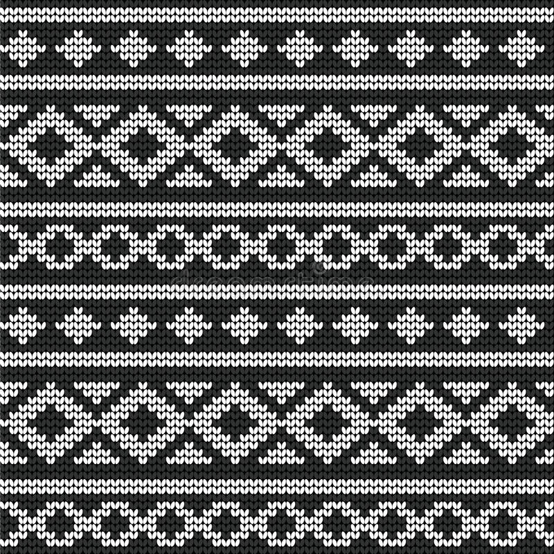 Seamless vector knitted pattern vector illustration
