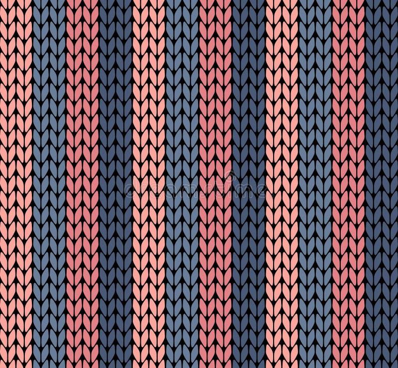 Seamless vector knitting pattern royalty free illustration