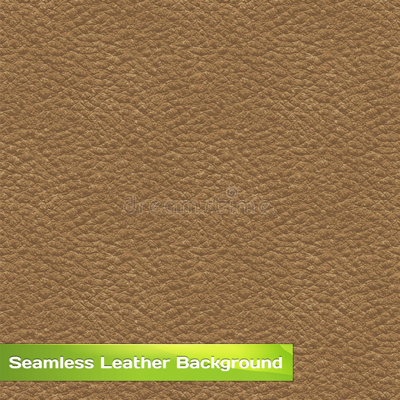 Seamless Vector Leather Texture. Seamless Vector Brown Leather Texture stock illustration