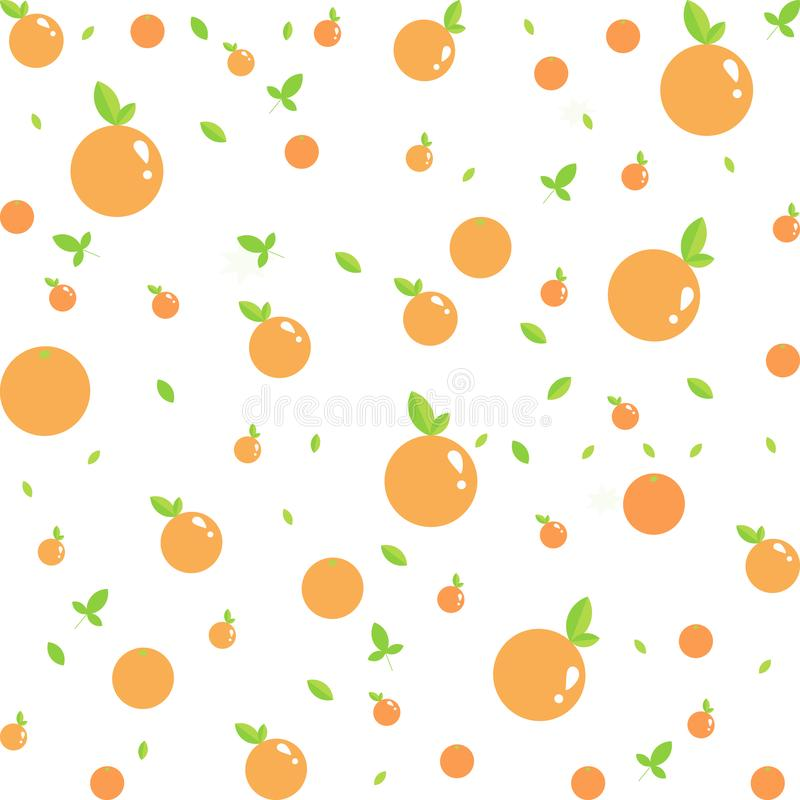 Seamless vector orange fruit pattern.vector, illustration. royalty free stock photos