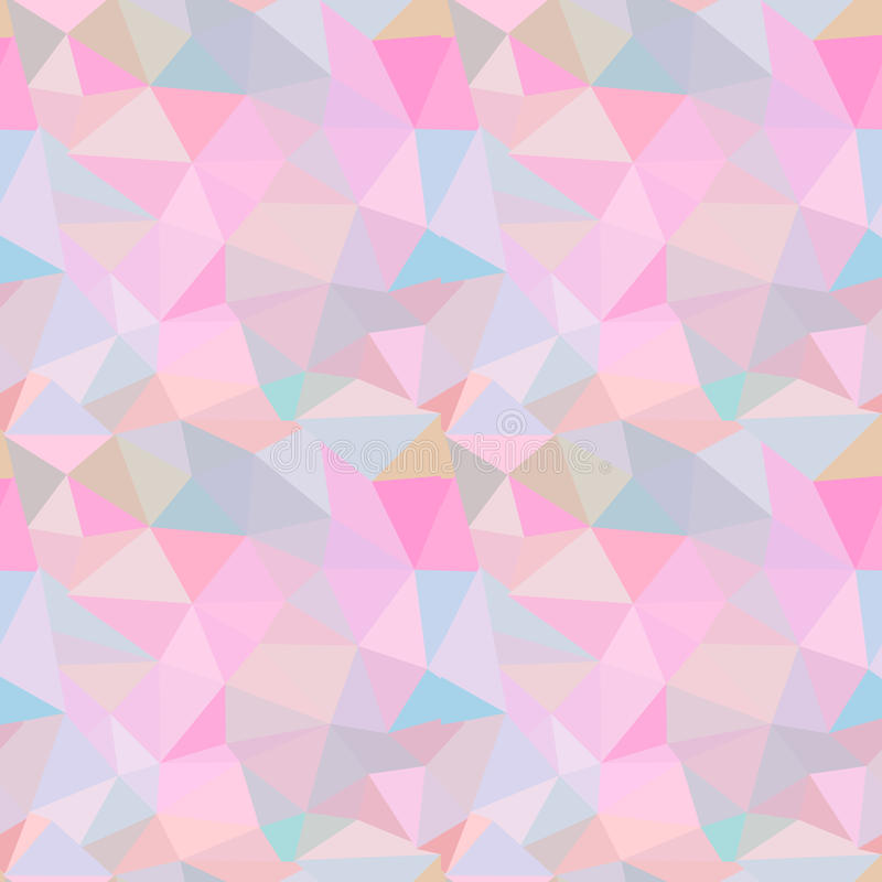 Seamless vector pattern. Abstract background with colorful triangles royalty free illustration
