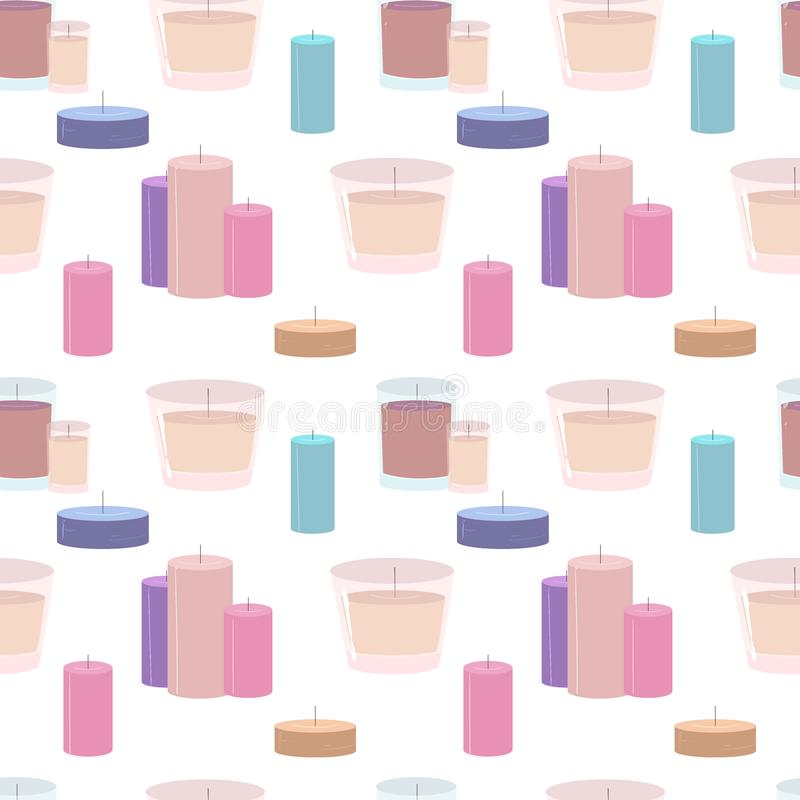 Seamless pattern with candles vector illustration